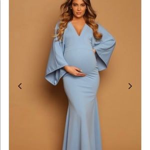 Dresses & Skirts - Baby Blue Maternity Gown